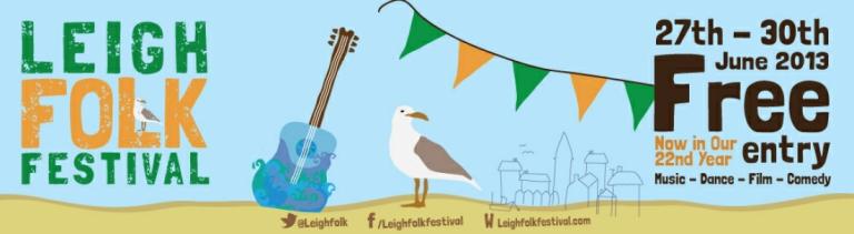 The Doomed Bird perform at the Leigh Folk Festival 2013.